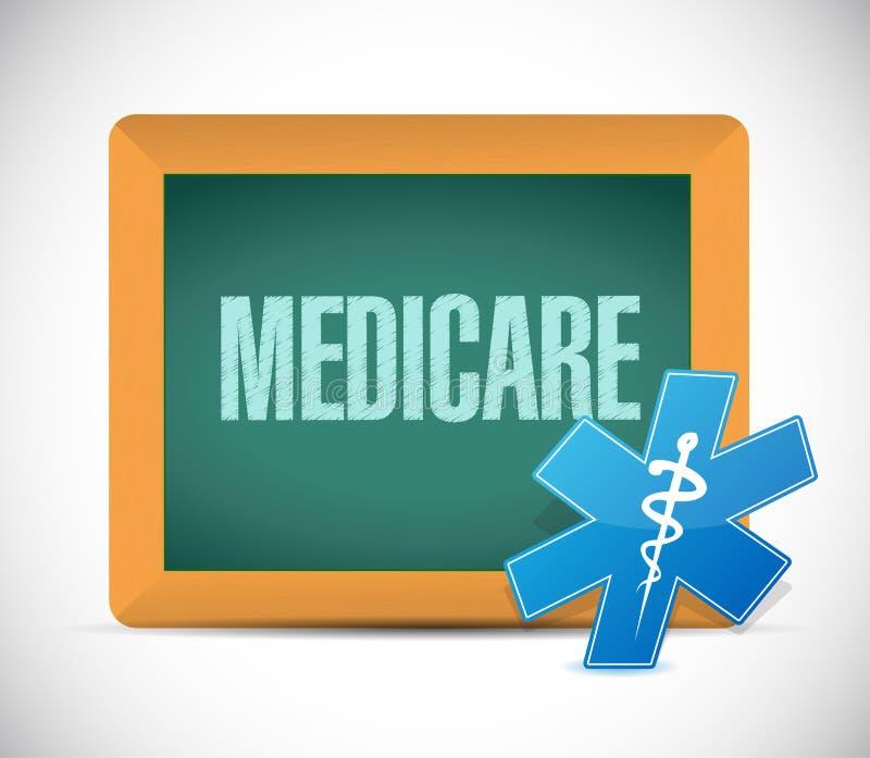 Gezondheidszorg voor bejaarden-het concept van het bordteken stock illustratie