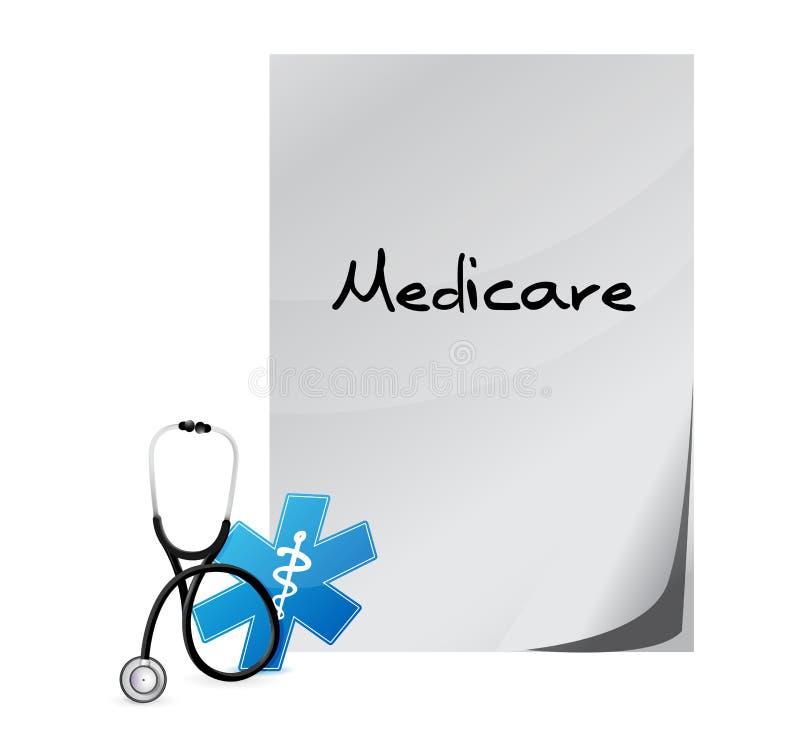 Gezondheidszorg voor bejaarden-het ontwerp van de gezondheidssignaleringillustratie royalty-vrije illustratie