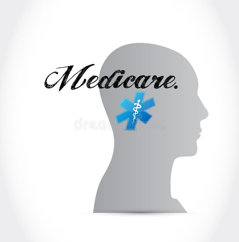 Gezondheidszorg voor bejaarden-het ontwerp van de het conceptenillustratie van het meningsteken stock illustratie