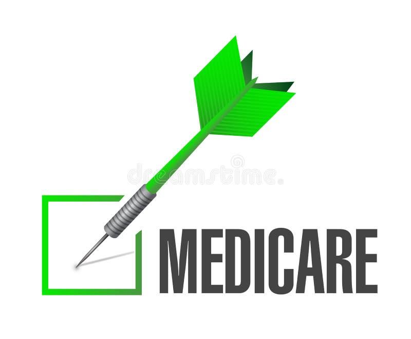 Gezondheidszorg voor bejaarden-het tekenconcept van het controlepijltje stock illustratie