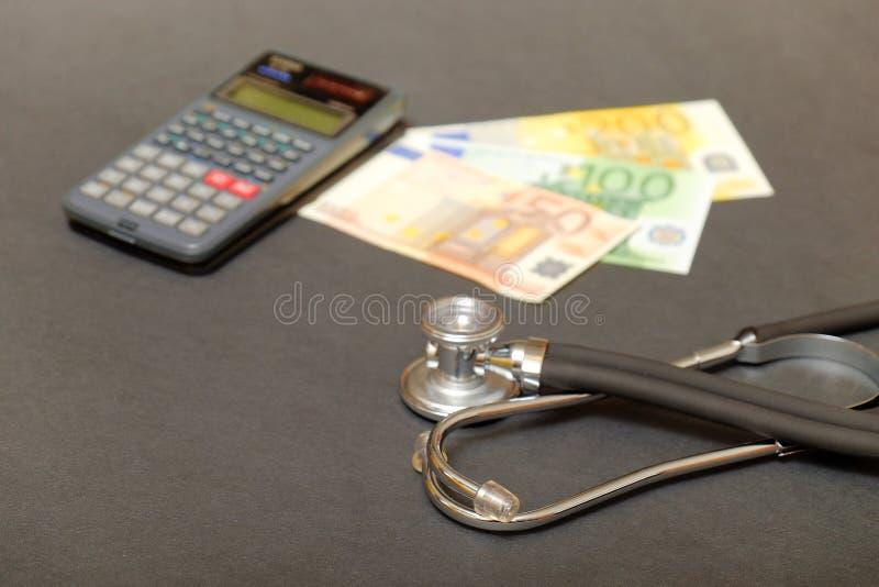 Gezondheidszorgberekeningen stock afbeeldingen