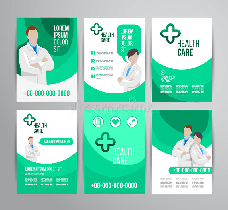 Gezondheidszorgbrochure vector illustratie