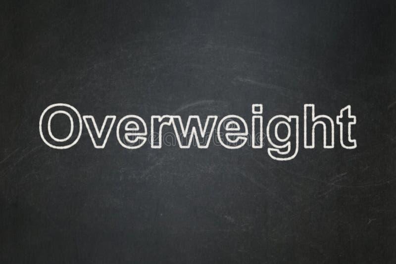 Gezondheidszorgconcept: Overgewicht op bordachtergrond royalty-vrije stock foto