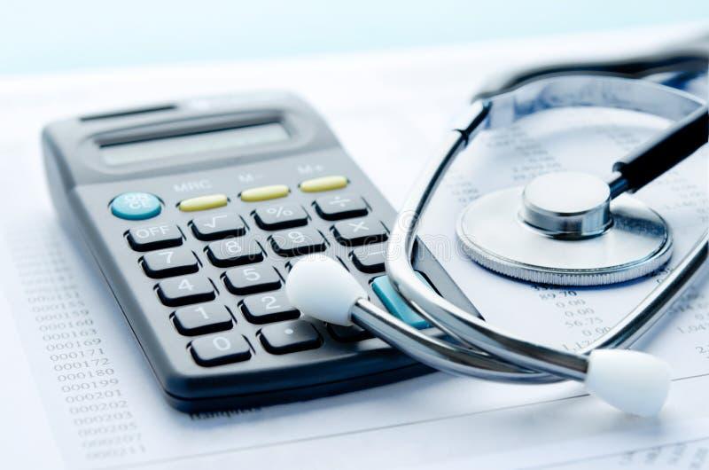 Gezondheidszorgkosten stock afbeeldingen