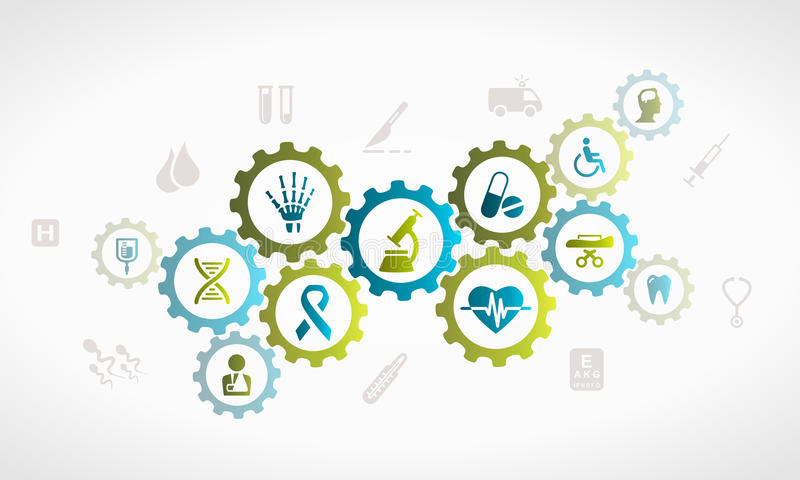 Gezondheidszorgsysteem royalty-vrije illustratie