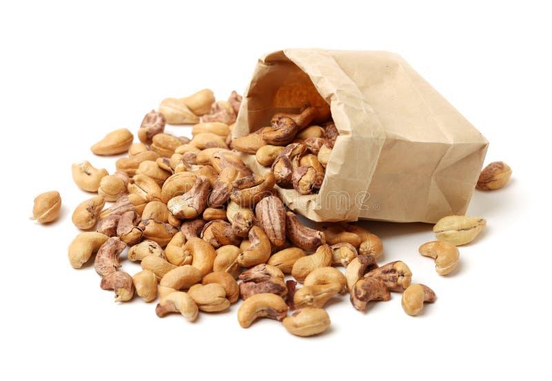 Gezouten cashewnoot stock afbeeldingen
