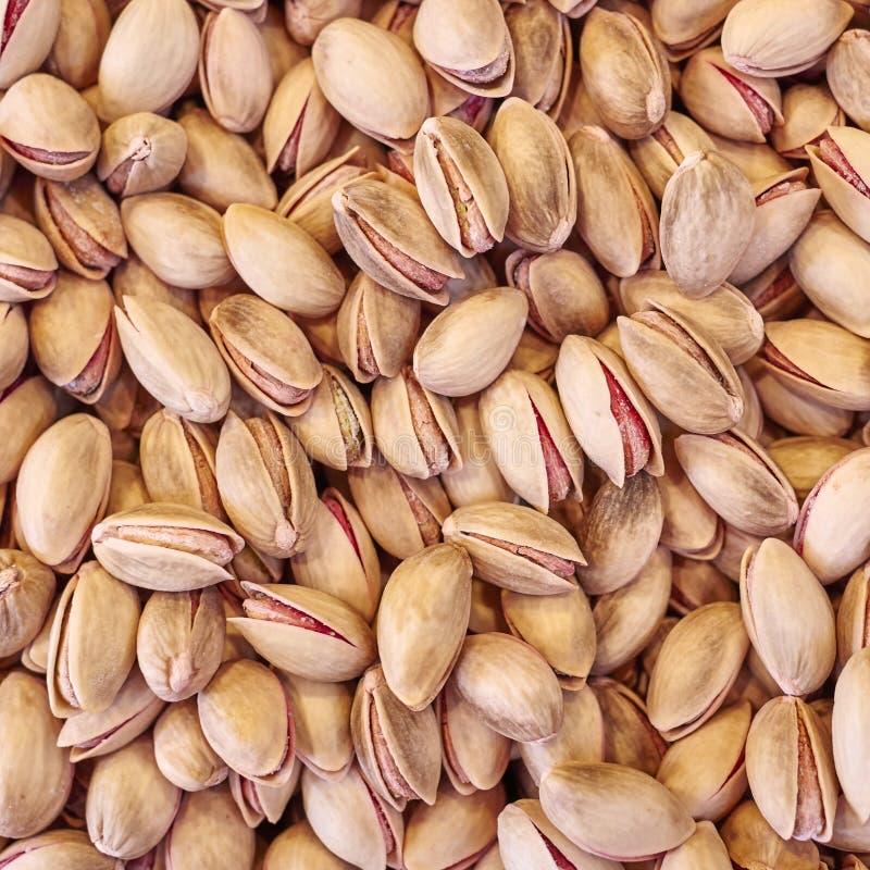 gezouten en geroosterde organische pistaches royalty-vrije stock afbeelding