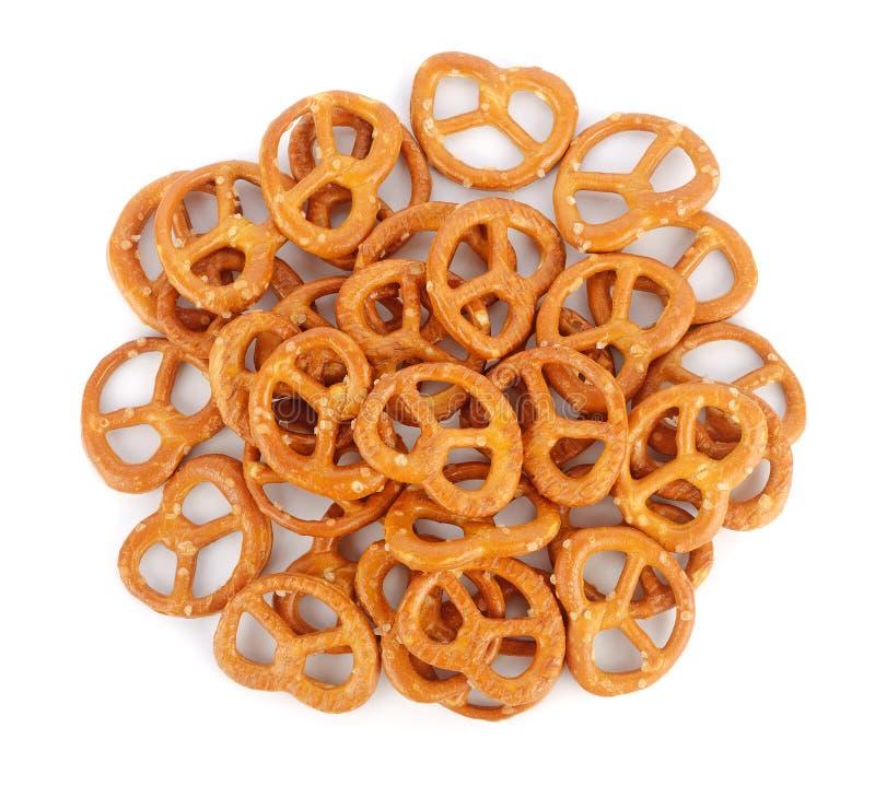 Gezouten pretzels stock fotografie