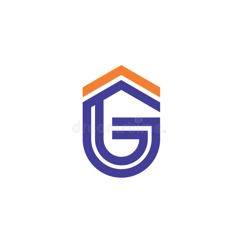 GF company linked letter logo royalty free stock photography