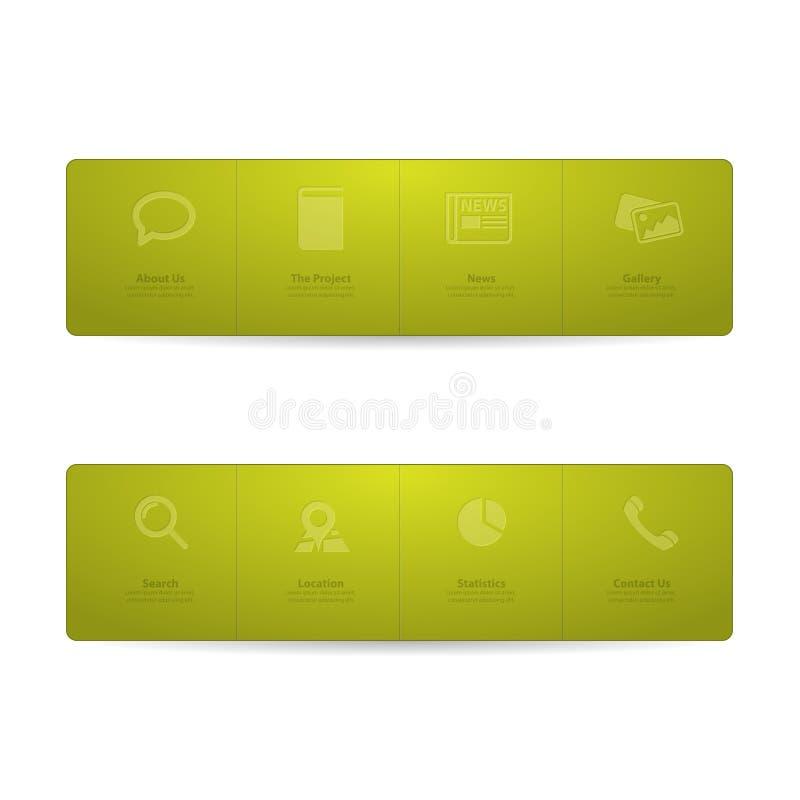 Download Gfreen Web Design Menu Template Stock Vector - Image: 24931949