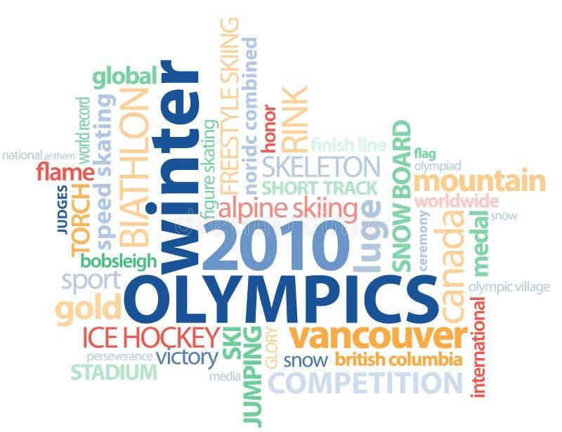 gfx olimpiad konturu Vancouver słowo ilustracja wektor