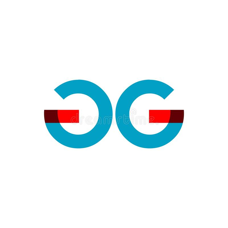 GG Company Logo Vector Template Design Illustration royalty-vrije illustratie