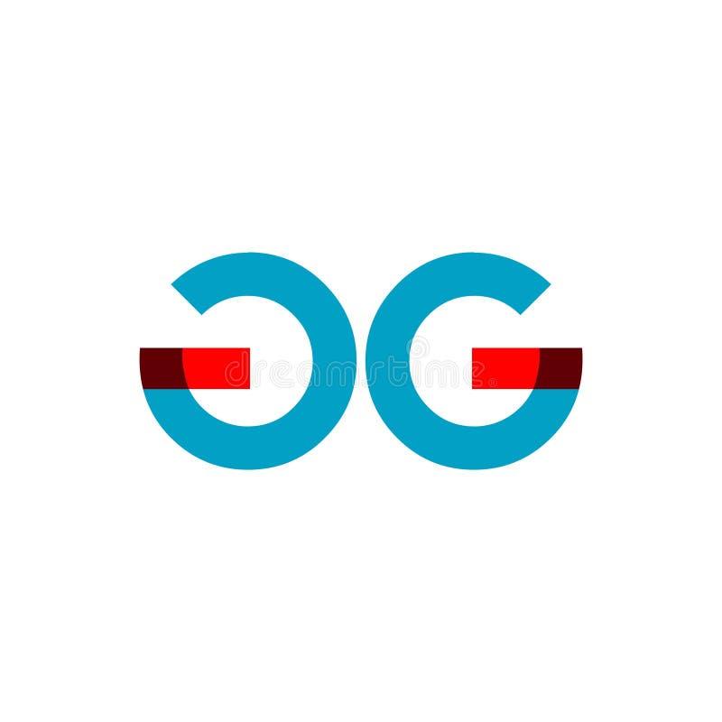 GG Företag Logo Vector Template Design Illustration royaltyfri illustrationer
