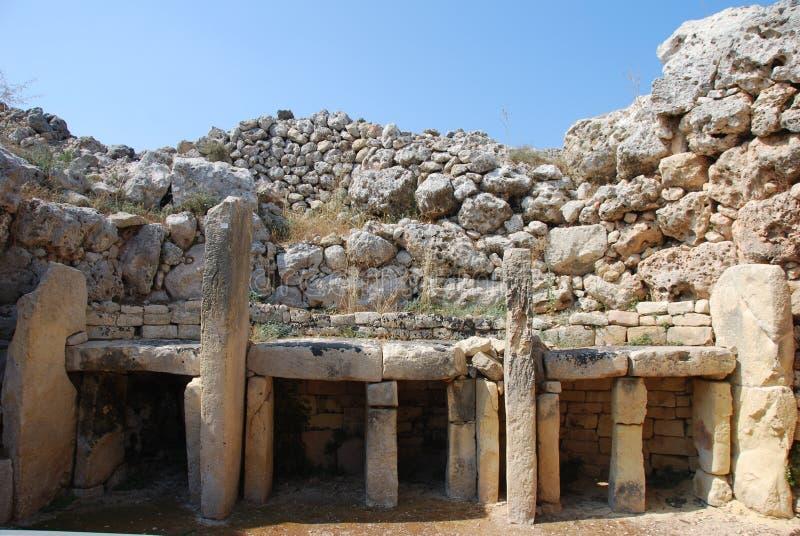 Ggantija Świątynia zdjęcia stock
