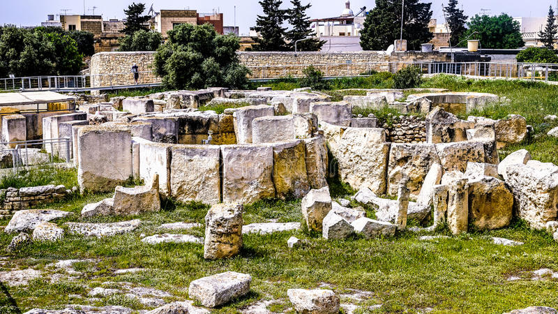 Ggantija neolityczna świątynia obrazy stock
