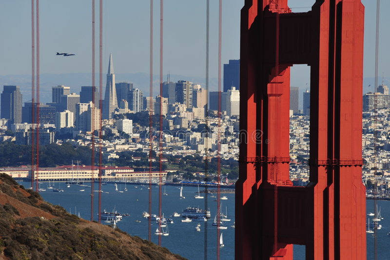 GGB Blue Angels royalty free stock images