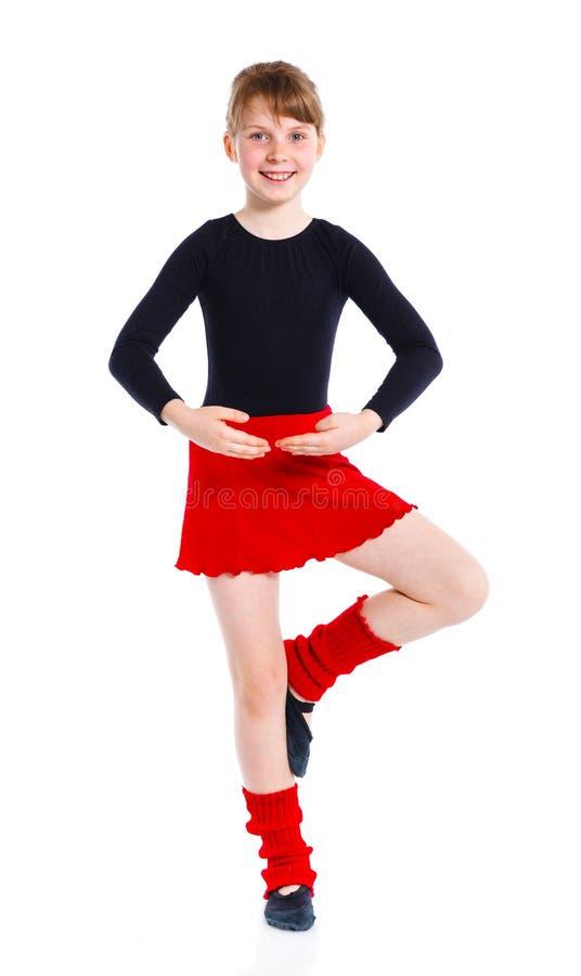 Ggirl die Gymnastserien lizenzfreies stockfoto
