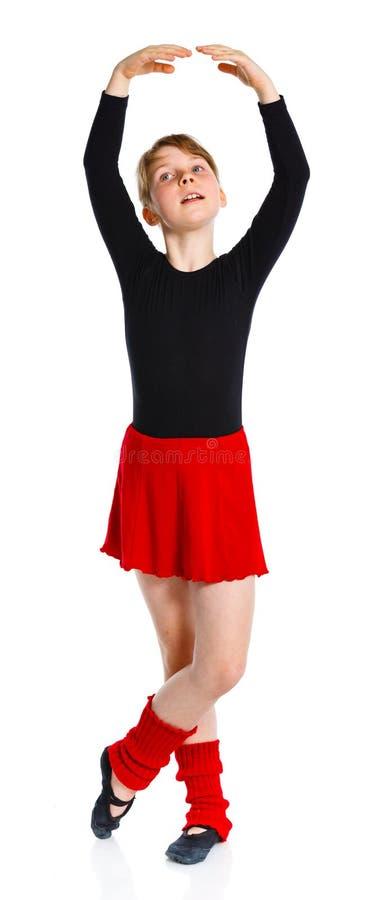 Ggirl i treni del gymnast fotografie stock libere da diritti