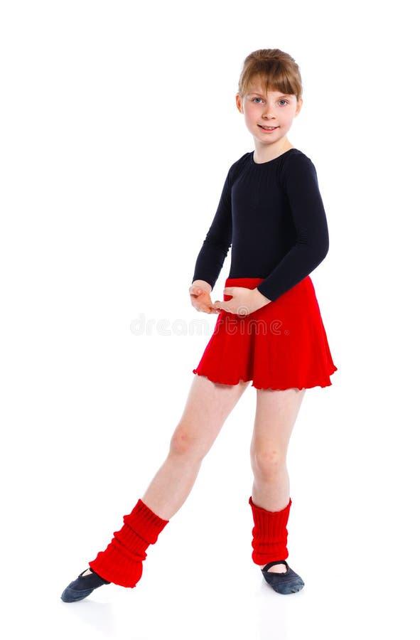 Ggirl i treni del gymnast fotografia stock libera da diritti