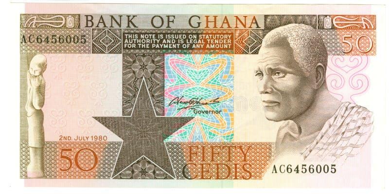 Ghański banknot zdjęcia stock