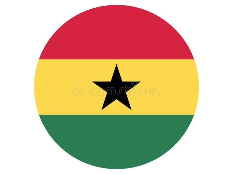 Ghana bandery round ilustracji