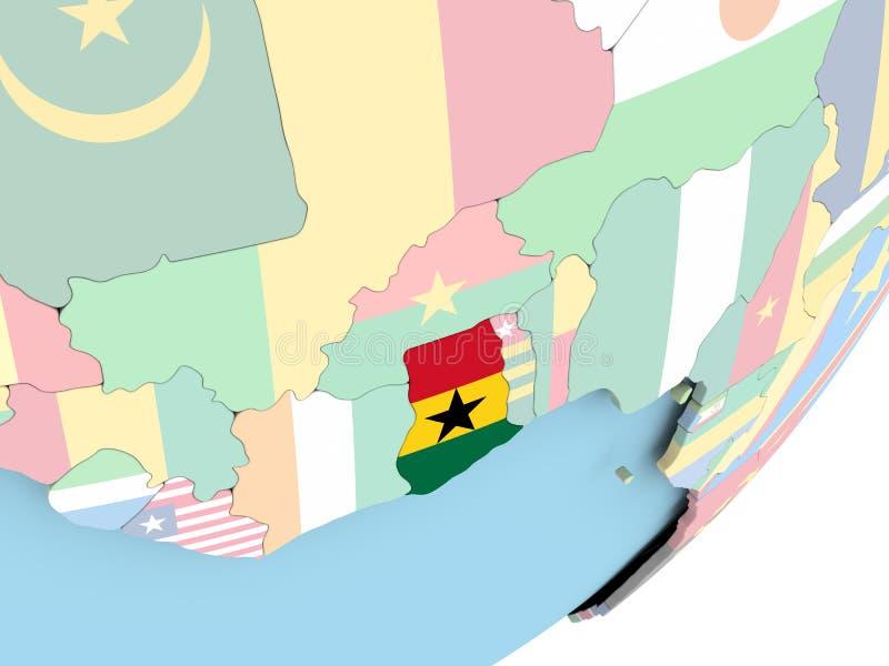 Ghana con la bandera libre illustration