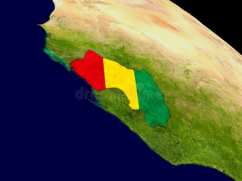 Ghana con la bandera en la tierra libre illustration