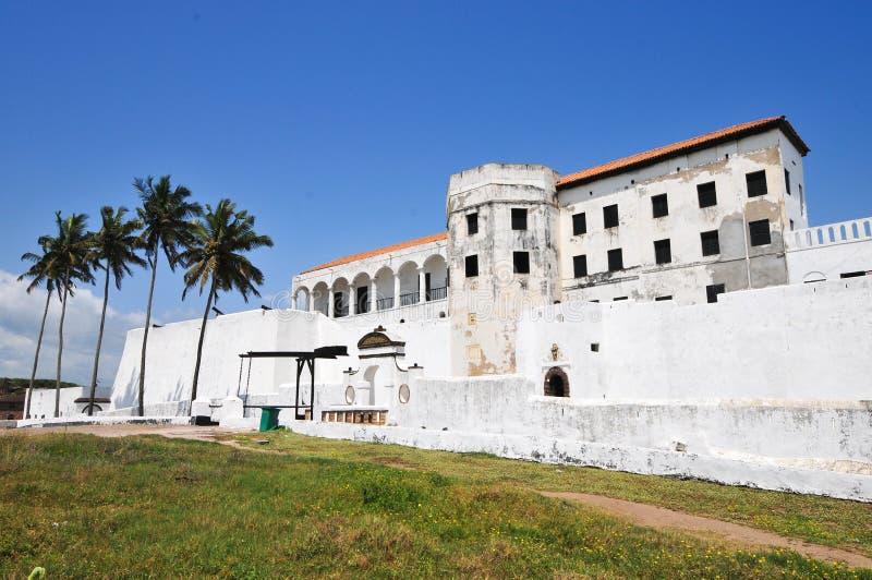 Ghana: De Plaats van de de Werelderfenis van het Elminakasteel, Geschiedenis van de Slavernij royalty-vrije stock afbeeldingen