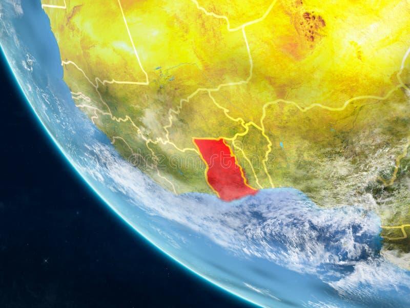 Ghana del espacio en la tierra stock de ilustración