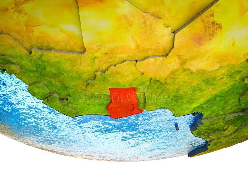 Ghana en la tierra 3D libre illustration