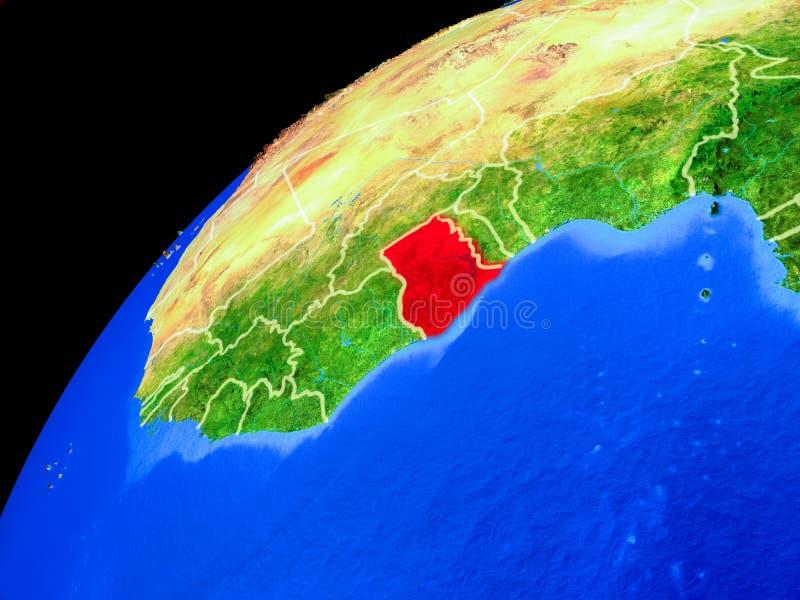 Ghana en la tierra del espacio libre illustration