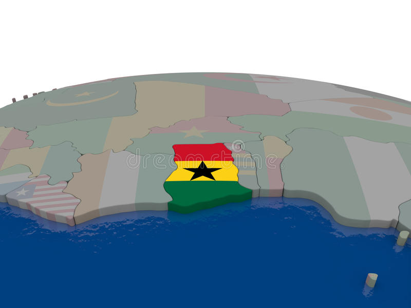 Download Ghana with flag stock illustration. Image of countries - 83716495