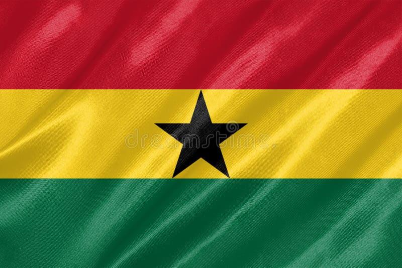 Ghana flagga stock illustrationer