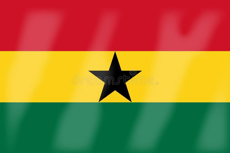Ghana-Flagge lizenzfreie abbildung