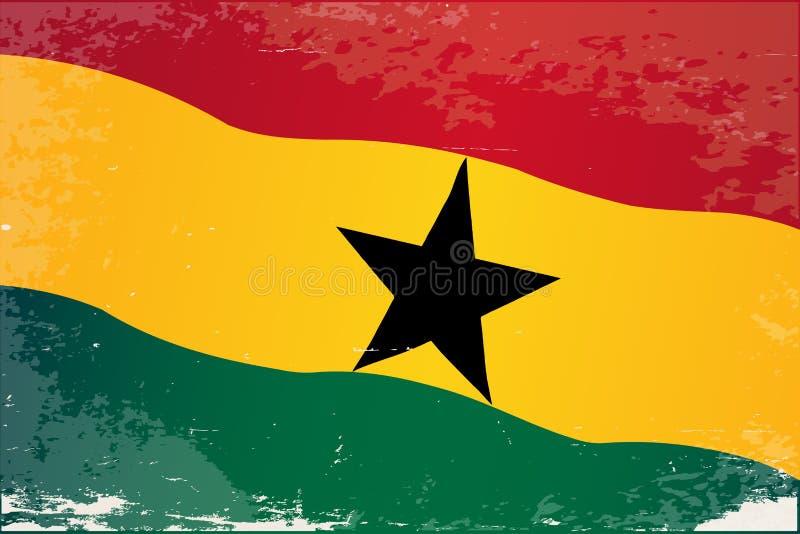 Ghana-Flaggen-Schmutz lizenzfreie abbildung