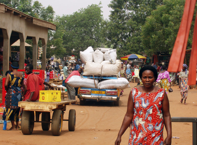 Ghana marketplace. A crowded marketplace in Ghana - Africa