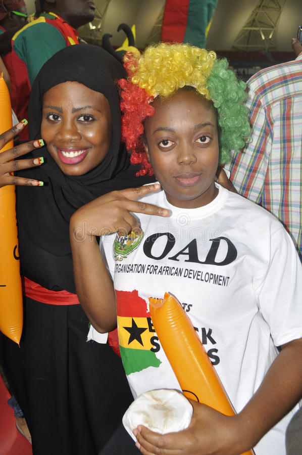 Ghana supporters stock photos