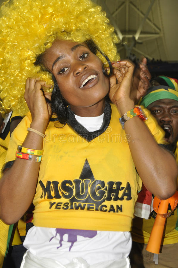 Ghana supporters stock image