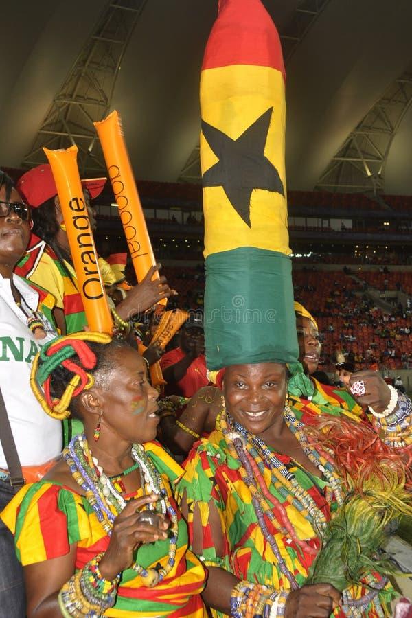 Ghana supportrar royaltyfri foto