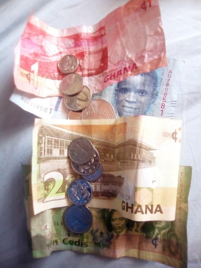 Ghanansk valuta arkivfoto