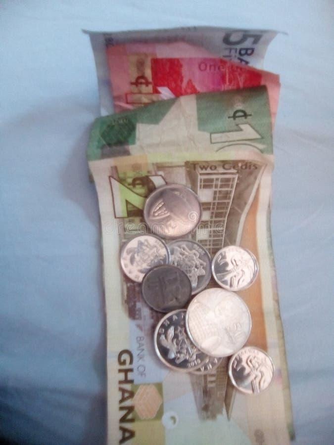 Ghanansk valuta arkivbilder