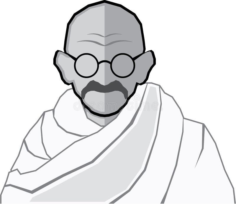 Ghandi Vector stock illustratie
