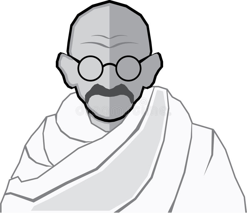 Ghandi Vector stock illustration