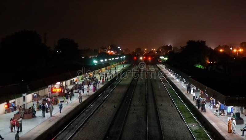 Ghandinagar railway station in Jaipur India. Jaipur, India; 16th Aug 2013: Ghandinagar railway station in Jaipur. The northwestern rail network offers royalty free stock photo