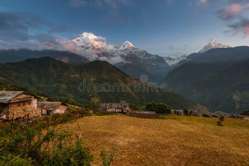 Ghandruk, secteur de Kaski, Népal images libres de droits