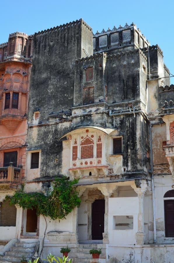 Ghanerao kunglig slott, Rajasthan, Indien royaltyfri fotografi