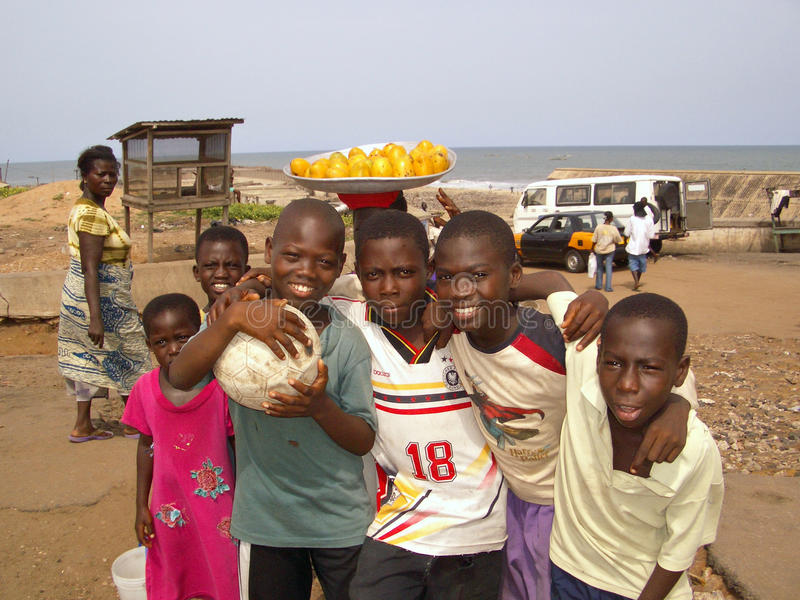 Download Ghanian Children editorial stock image. Image of african - 25897134