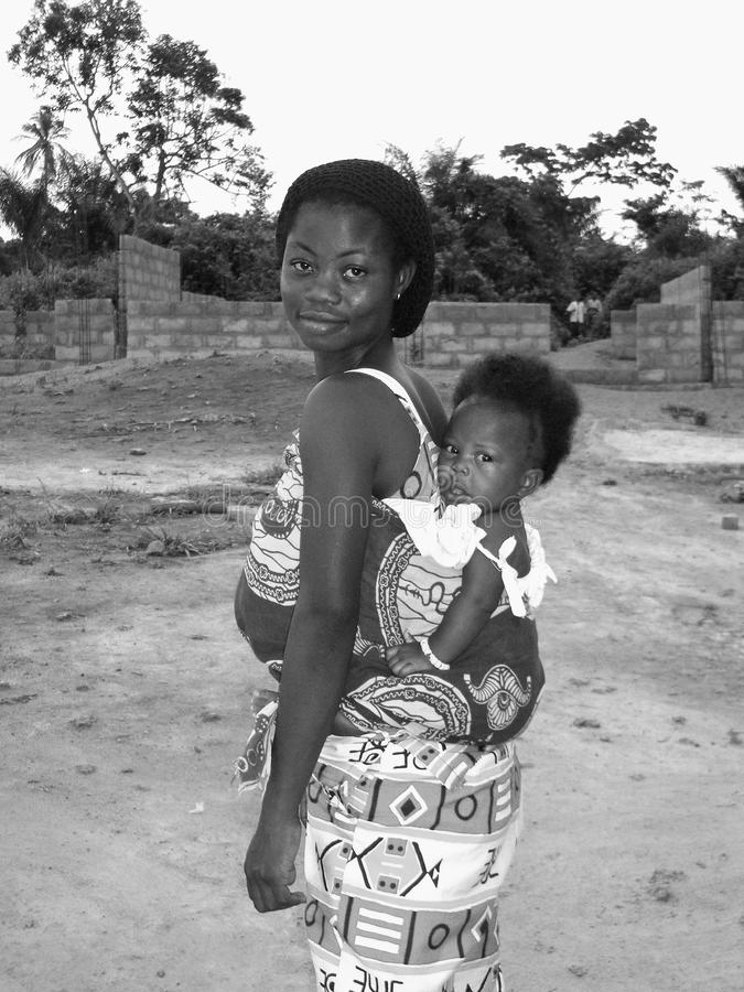 Download Ghanian Mother and Child editorial image. Image of baby - 25897125
