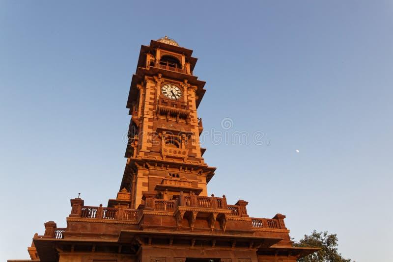 Ghanta Ghar, la tour d'horloge du Ràjasthàn, à Jodhpur photographie stock libre de droits