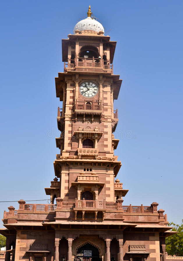 Ghantaghar clocktower Jodhpur Rajasthan India royalty free stock photography